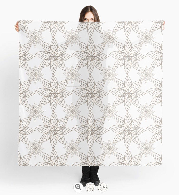 Poinsettias White Gold Scarf.jpg