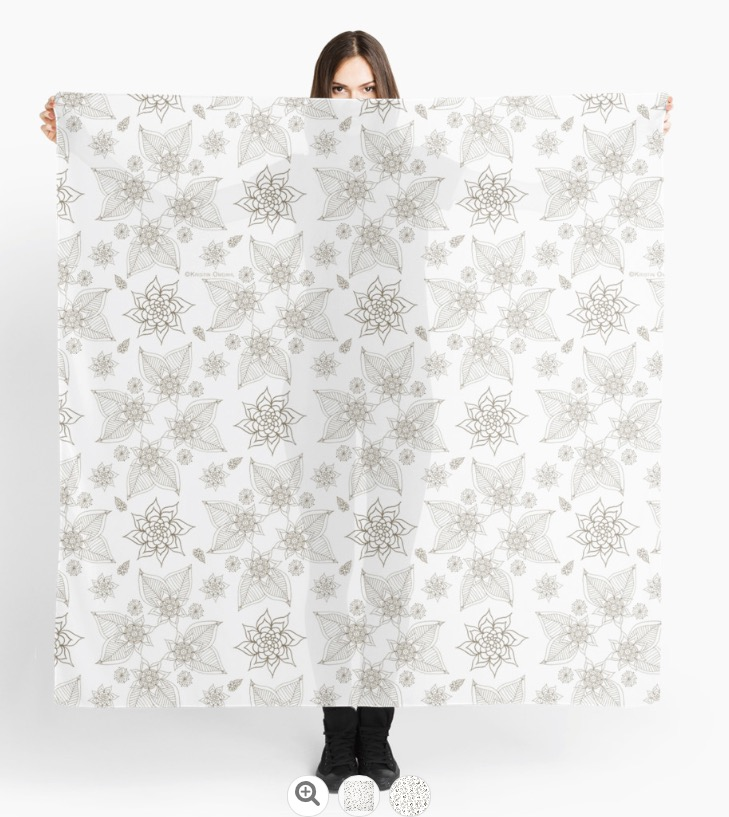 Paisleys Gold White Scarf.jpg