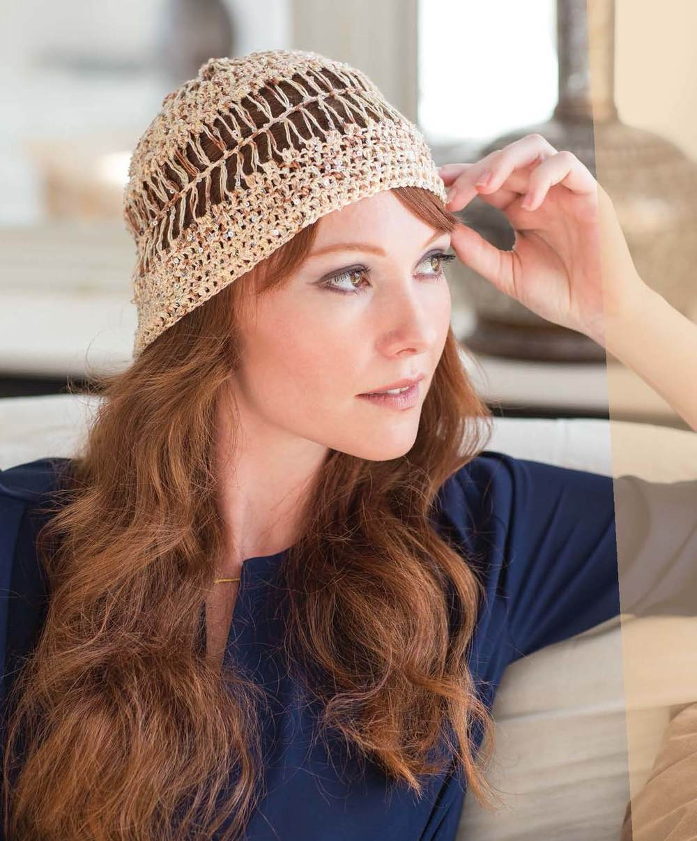 "This Hairpin Lace Hat is also from ""Crochet So Lovely"". Learn the techniques for this hat as well in Kristin's YouTube Video on Hairpin Lace. Click on the photo for more information."