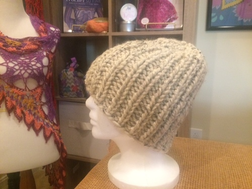 How To Make Basic Bulky Knit Hat In Rows AND Rounds Kristin Omdahl Fascinating Free Knitting Patterns Bulky Yarn