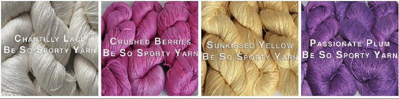 Click on photo to order Be So Sporty Yarn. Use coupon code YOUTUBE to receive 10% off your entire order plus FREE shipping!