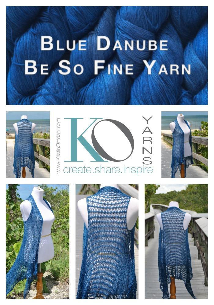 Be So Fine Yarn Knit Lace Vest Free Pattern Kristin Omdahl