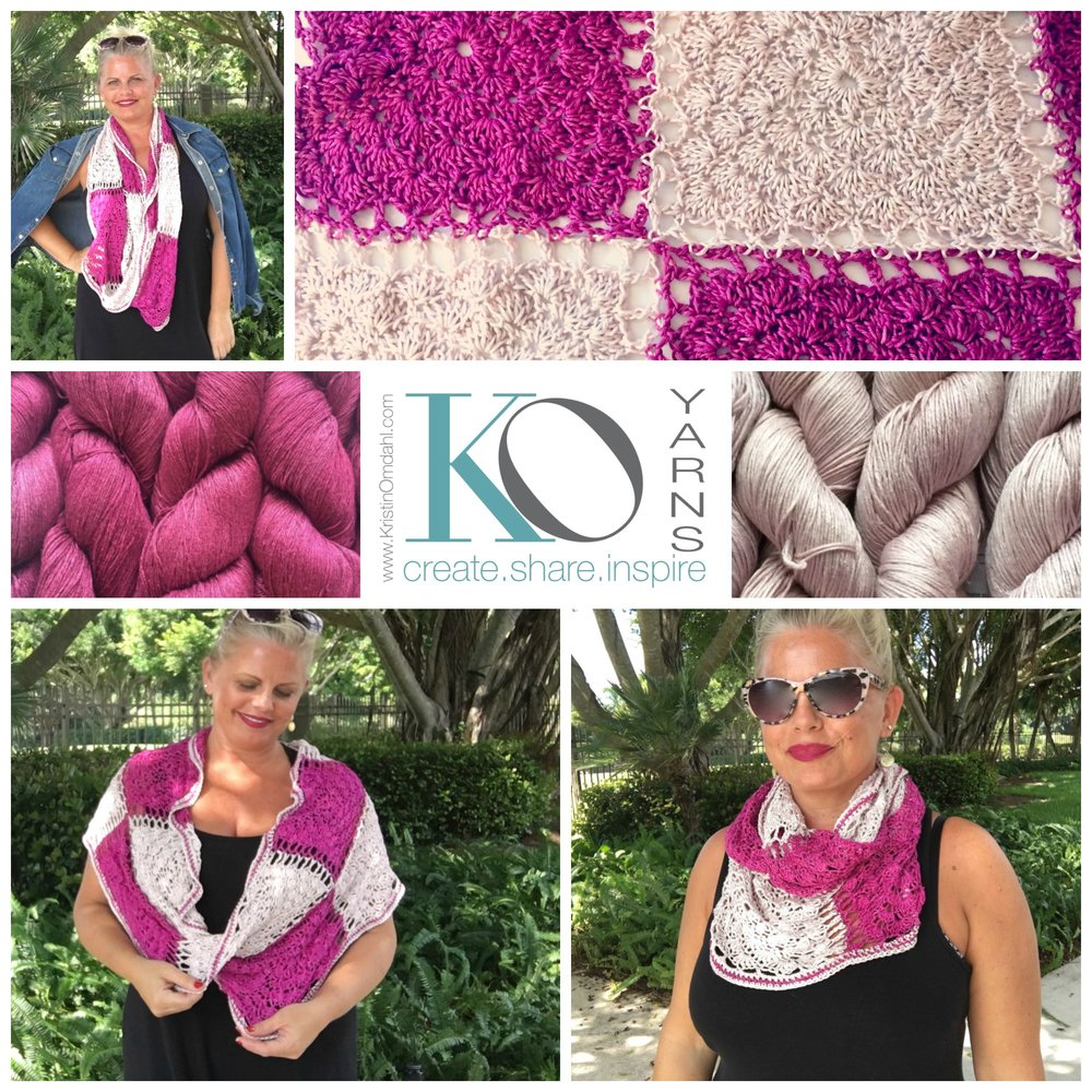 New FREE Crochet Pattern: Think Pinky! Crochet Motif Mobius Scarf ...