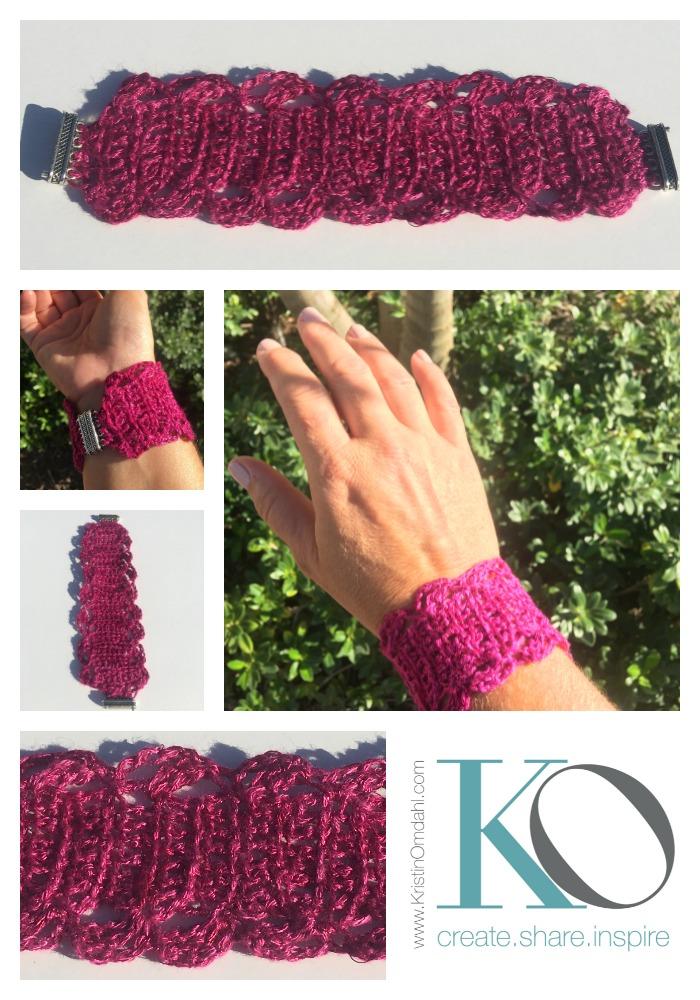 Tunisian Crochet Bracelet in Wire and Yarn FREE Pattern — Kristin Omdahl