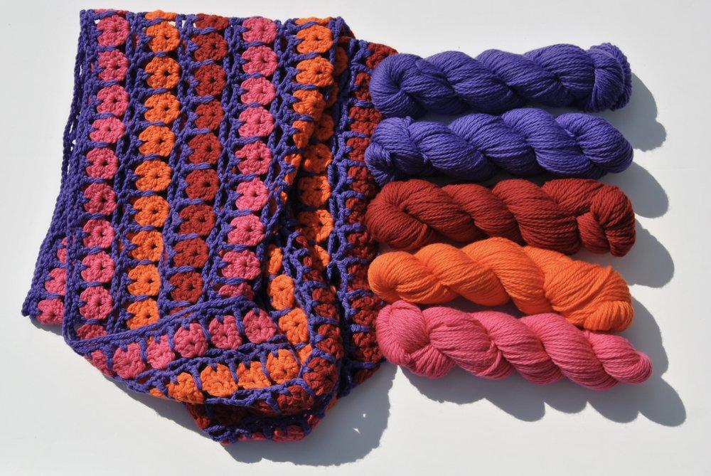 Be So Brave Yarn Crochet Rosette Infinity Loop Scarf Free Pattern