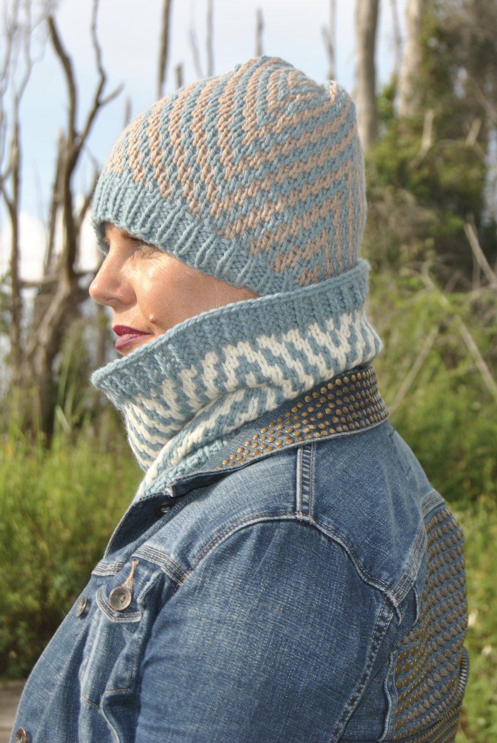 Be So Brave Yarn Chevron Knit Hat FREE Pattern — Kristin Omdahl
