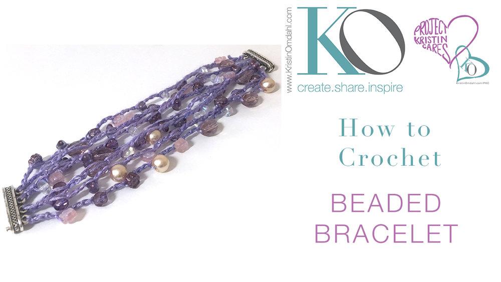 Venus Beaded Crochet Bracelet Free Pattern Kristin Omdahl
