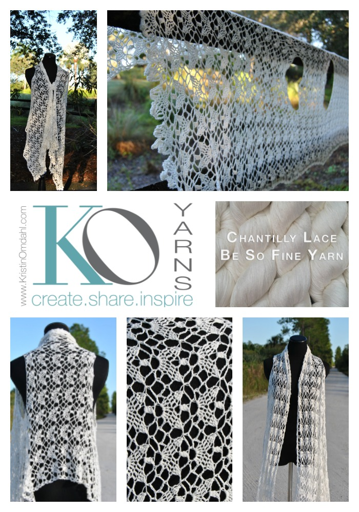 Be So Fine Chantilly Lace Crochet Vest Free Pattern Kristin Omdahl