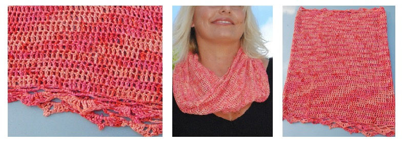 London Coral Be So Fine Crochet Cowl Free Pattern Kristin Omdahl