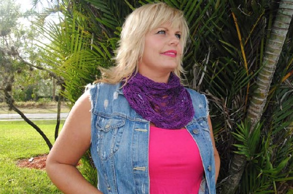 Necklace Cowl Knit I Cord And Picot Flower Cowl Free Pattern