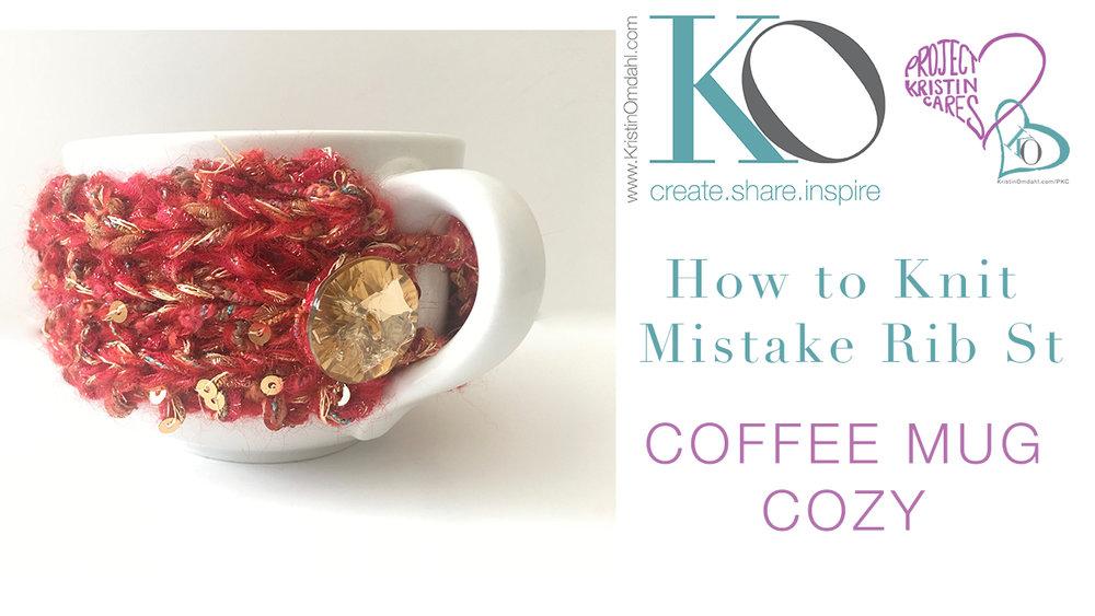 Be So Wild Knit Coffee Mug Cozy Free Pattern Kristin Omdahl