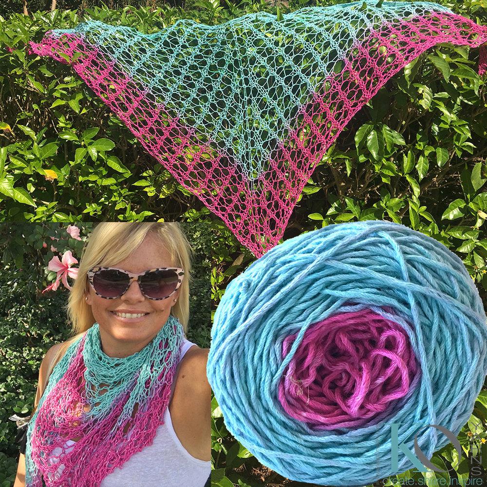 Be So Bold Ombre Gradient Knit Shawlette FREE Pattern — Kristin Omdahl