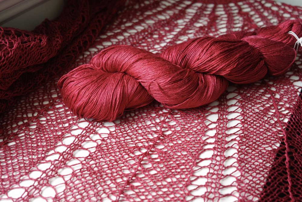 Razor Shell Knit Lace Shawl FREE Pattern — Kristin Omdahl