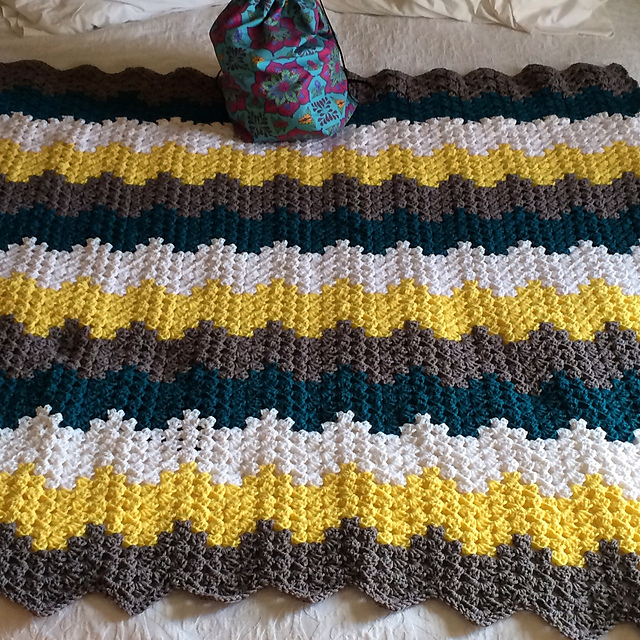 Baby Waves Crochet Afghan Free Pattern Kristin Omdahl