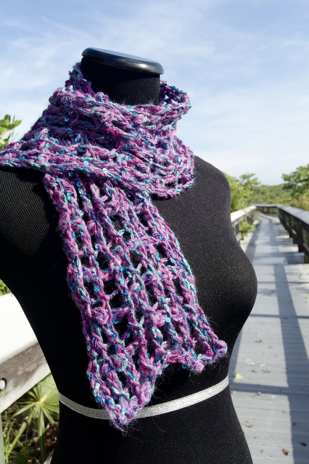 Be So Wild Tunisian Lace Crochet Scarf FREE Pattern — Kristin Omdahl