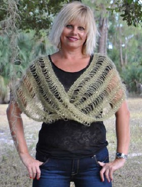 Drop Stitch Shawl Poncho And Or Infinity Loop Scarf Free Knit