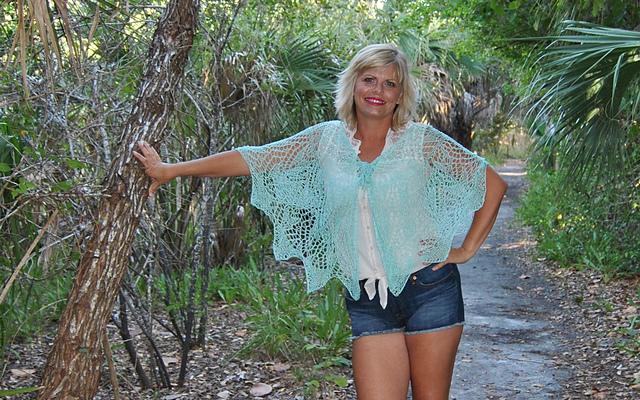 Little Hickory Knit Lace Cape Free Pattern Kristin Omdahl