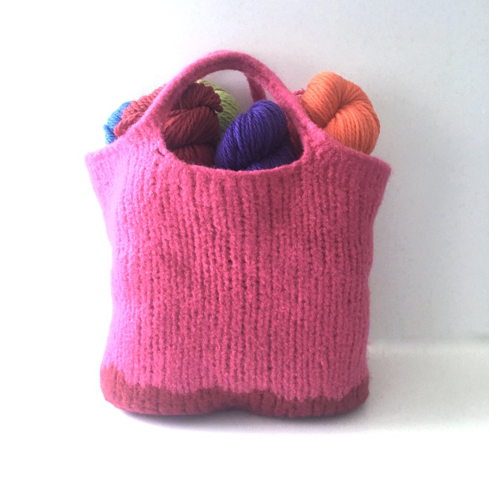 Free Knitting Pattern Felted Bag : Be So Brave Knit Felted Bag FREE Pattern   Kristin Omdahl