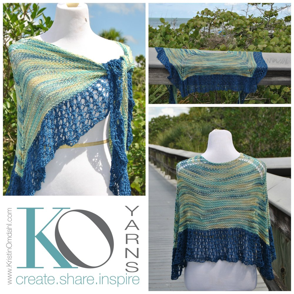Click here for Be So Sporty Yarn Jamaica Bay Knit Lace Shawl FREE Pattern