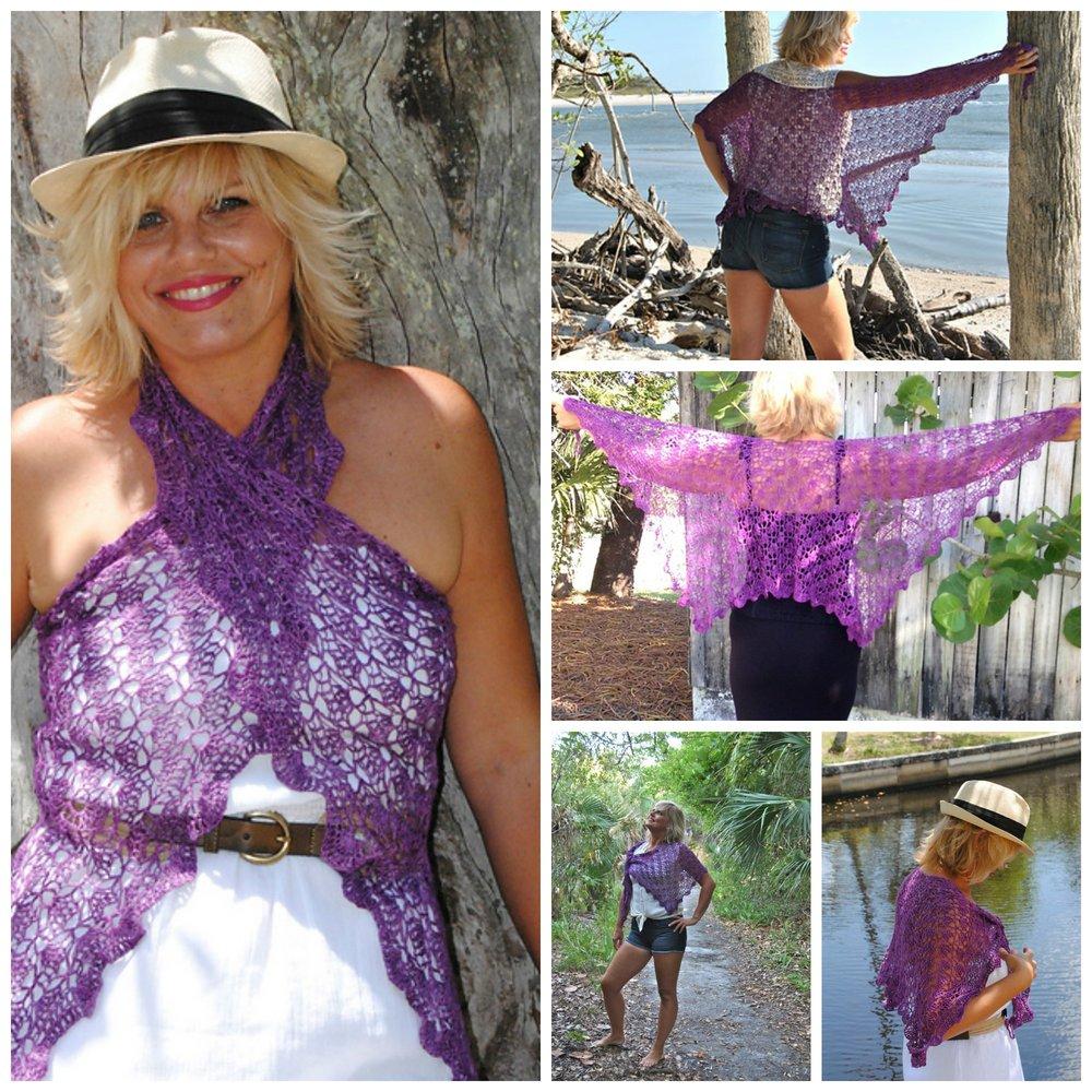 Click here for Be So Fine Yarn Islamorada Crochet Shawl FREE Pattern