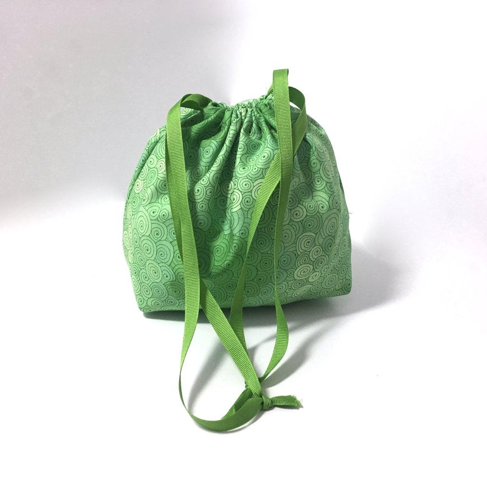 how to make a drawstring bag with a flat bottom
