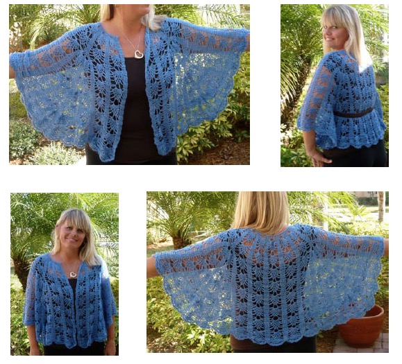 Vinga Belted Cape - Be So Fine Yarn Version - FREE Crochet Pattern