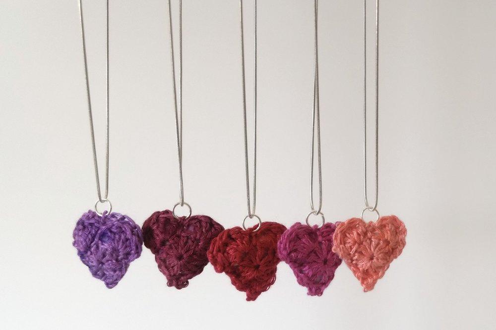 Be Mine Crochet Heart Pendants Free Pattern Kristin Omdahl