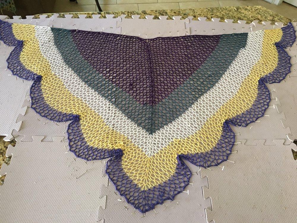 Lacy Cake Amethyst Geode Crochet Shawl Free Pattern Kristin Omdahl