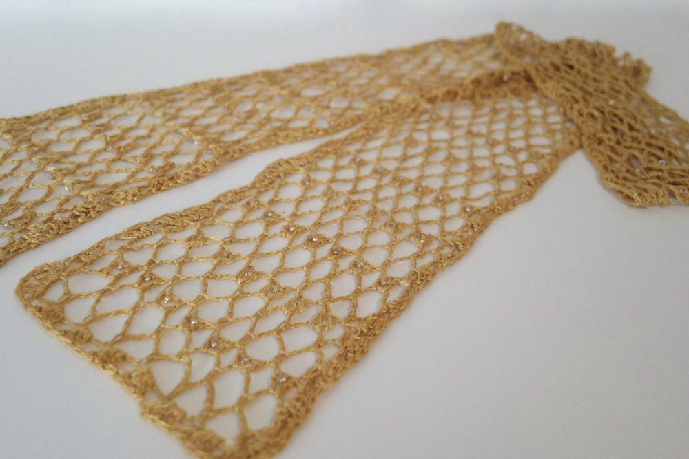 Be So Fine Tidbits Singles Beaded Crochet Scarf Free Pattern