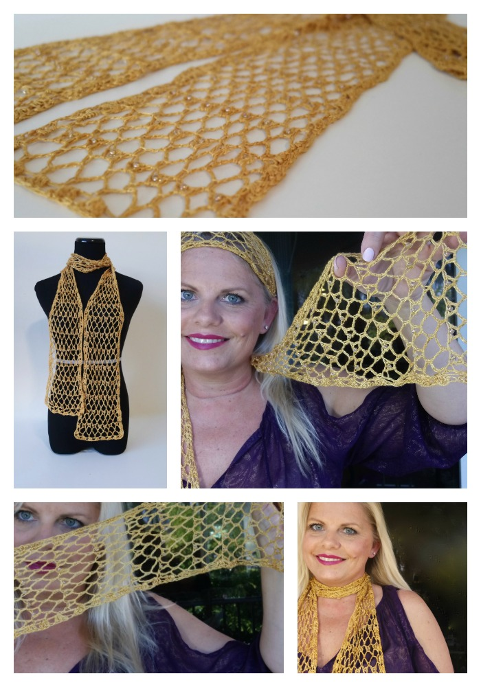 Be So Fine Tidbits Singles Beaded Crochet Scarf Free Pattern