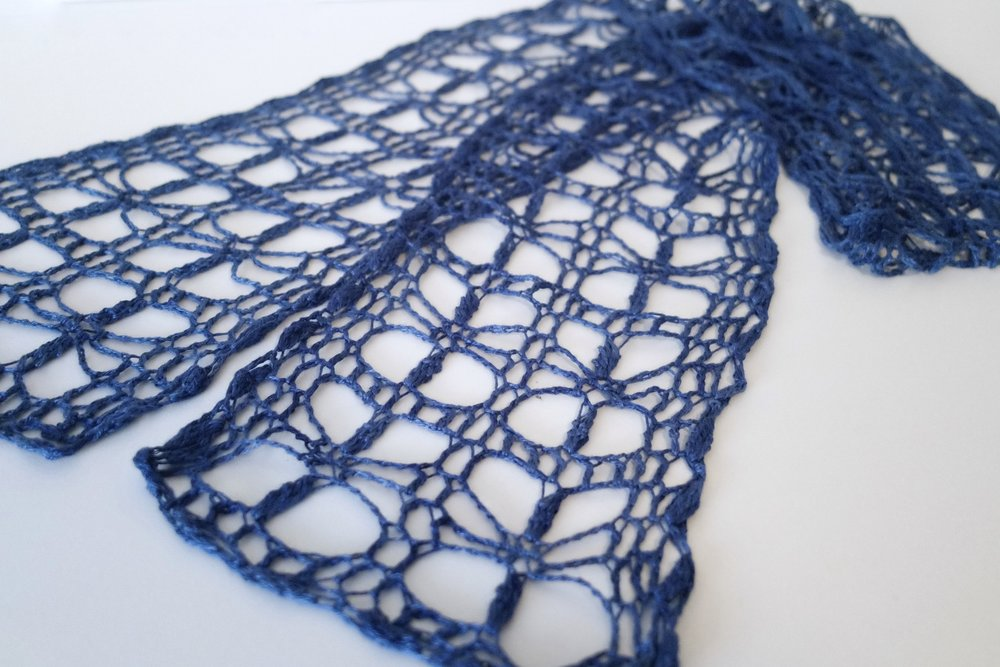 Be So Fine Tidbits Singles Crochet Lace Scarf Free Pattern Kristin