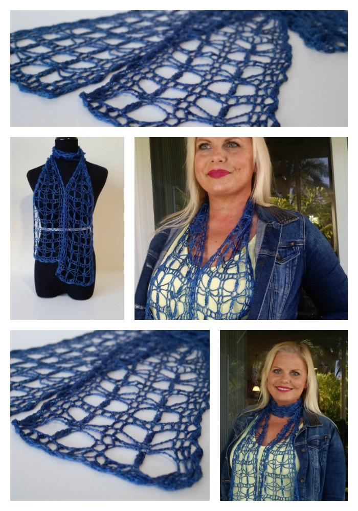 Be So Fine Tidbits Singles Crochet Lace Scarf Free Pattern Kristin