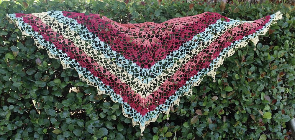 Sanibella Beaded Crochet Shawl Free Pattern Kristin Omdahl