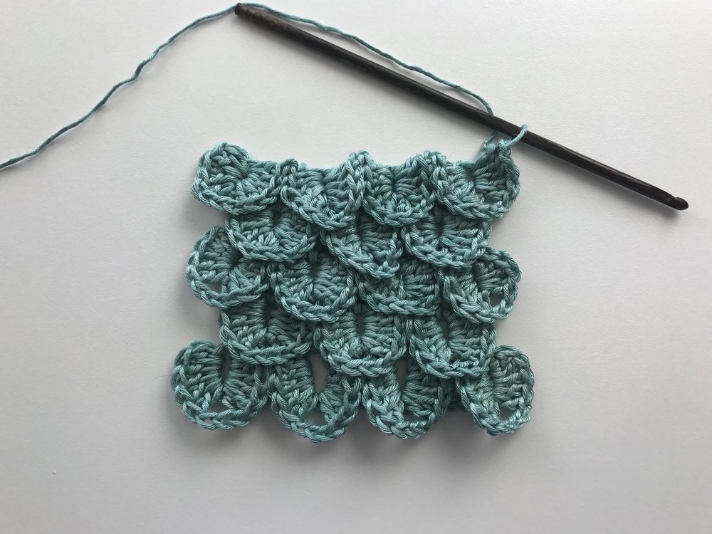 How To Crochet The Crocodile Stitch Free Pattern Kristin Omdahl