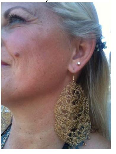 Vermeil Crochet Wire Earrings Free Pattern Kristin Omdahl