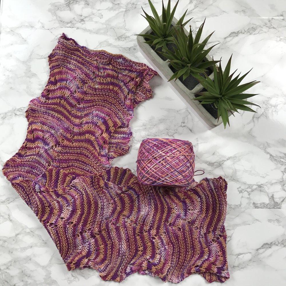 Crinkle Lush Knit Lace Scarf Free Pattern — Kristin Omdahl