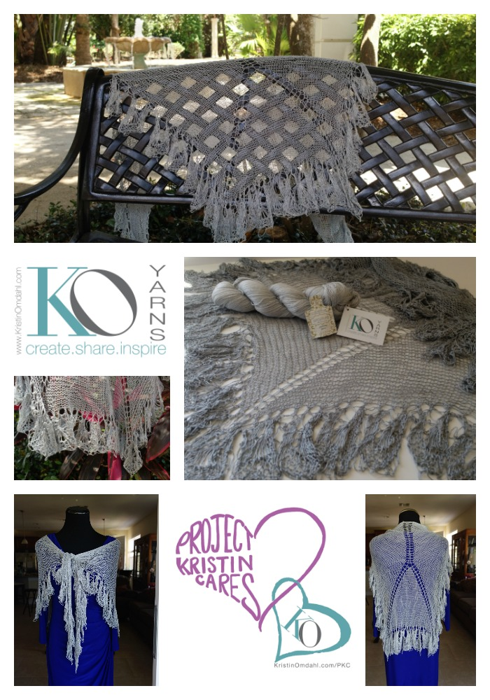 Serpentine Knit Lace Shawl Printed Pattern Kristin Omdahl