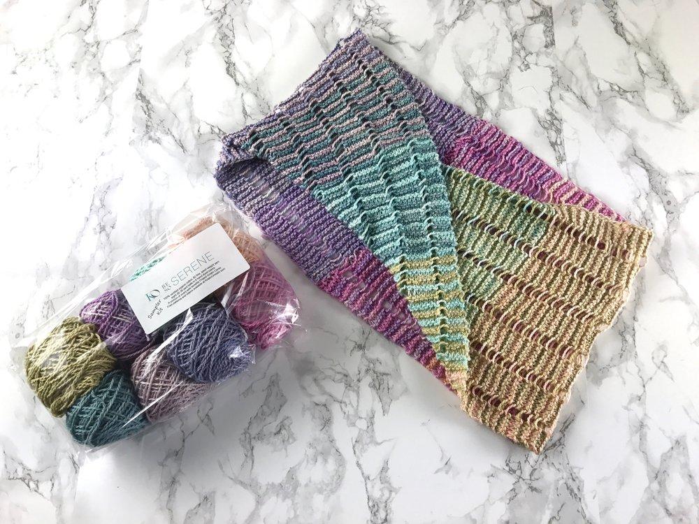 Serene Sampler Mobius Cowl Free Knitting Pattern Kristin Omdahl