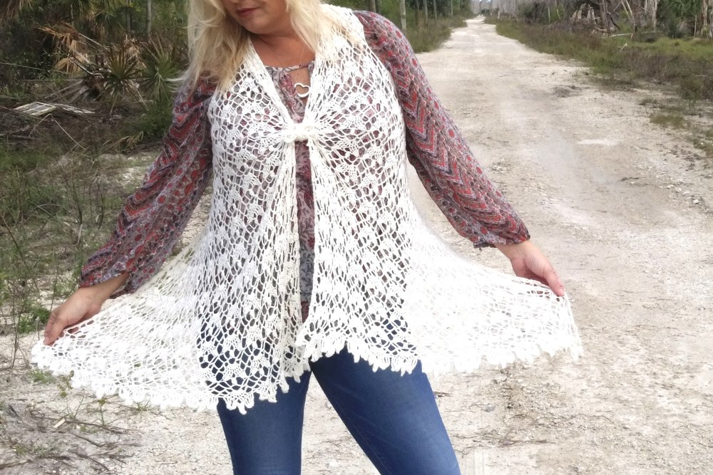 New Charts Video Tutorial For Chantilly Lace Crochet Vest Pattern