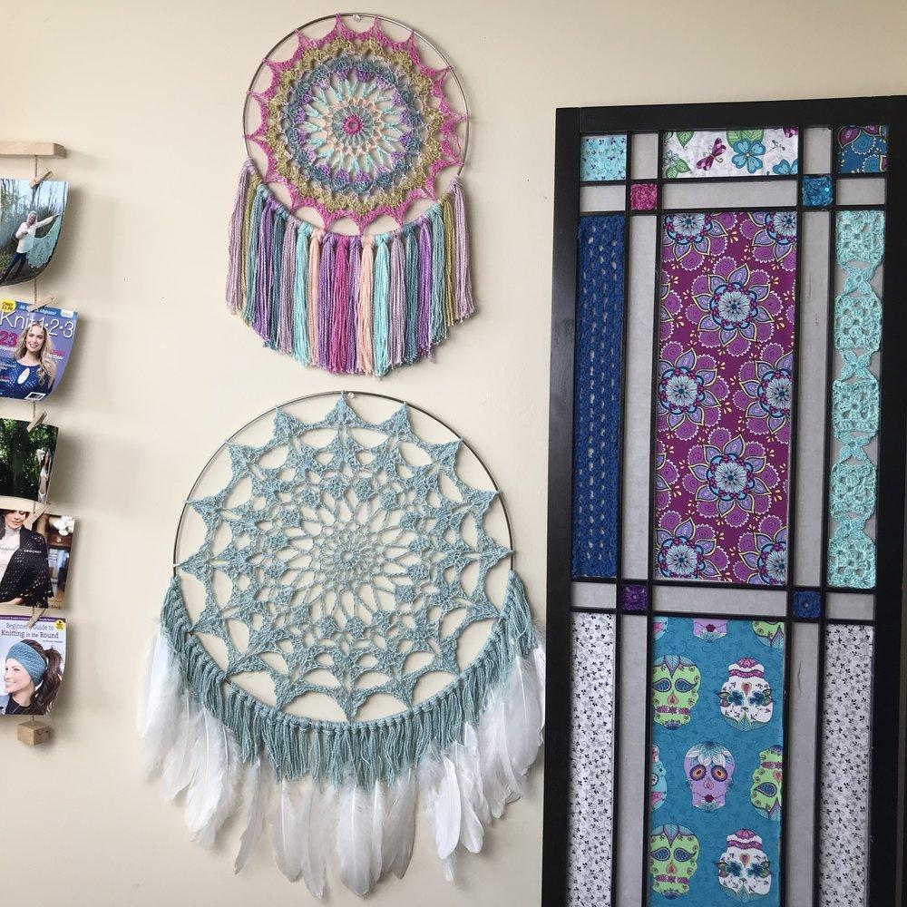 Serene Mandala Wall Hanging And Dreamcatcher Free Crochet Pattern