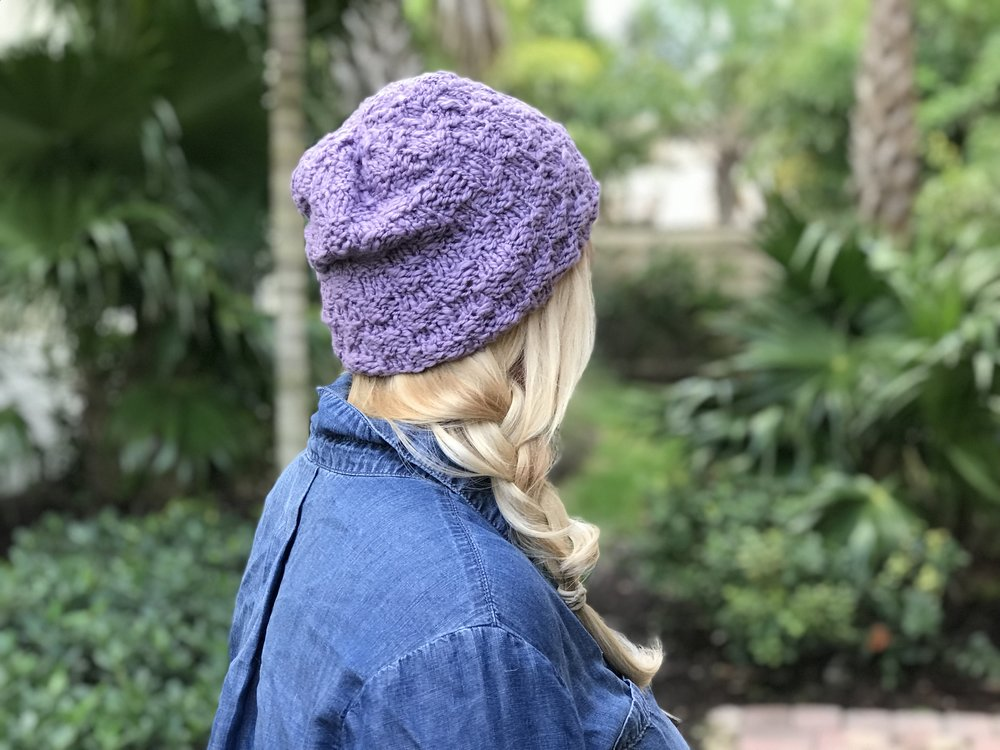 How To Easy Basic Beginner Knit Basketweave Hat In Rows Or Rounds