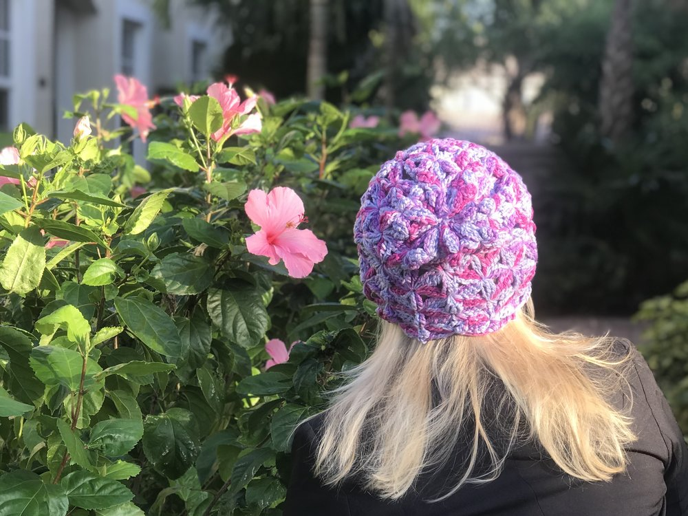 How To Crochet Delta Flower Stitch Hat Free Pattern Kristin Omdahl