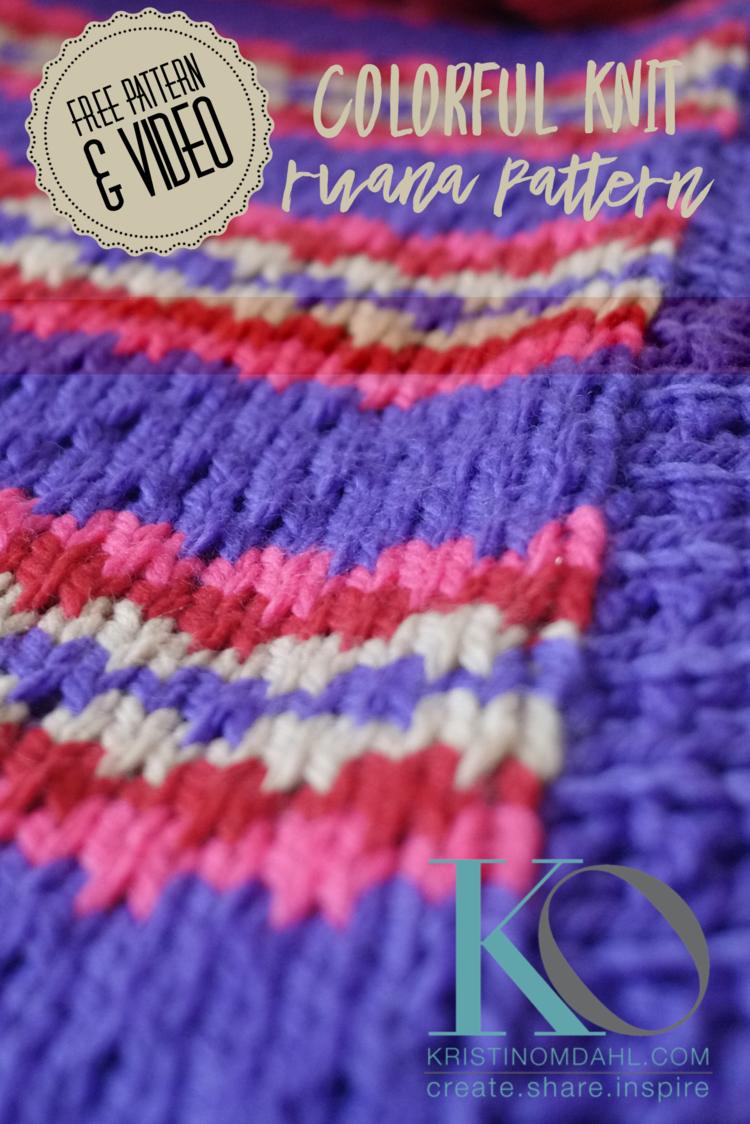 Brave & Colorful Knit Ruana FREE Pattern — Kristin Omdahl