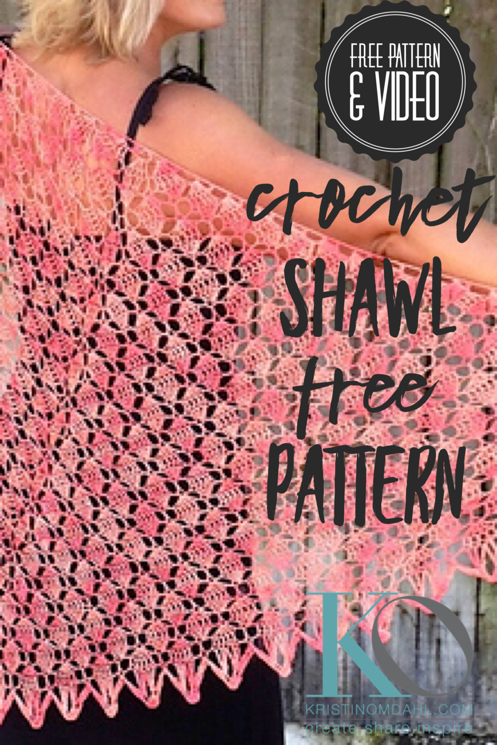 Key West Coral Crochet Lace Shawl Free Pattern Kristin Omdahl