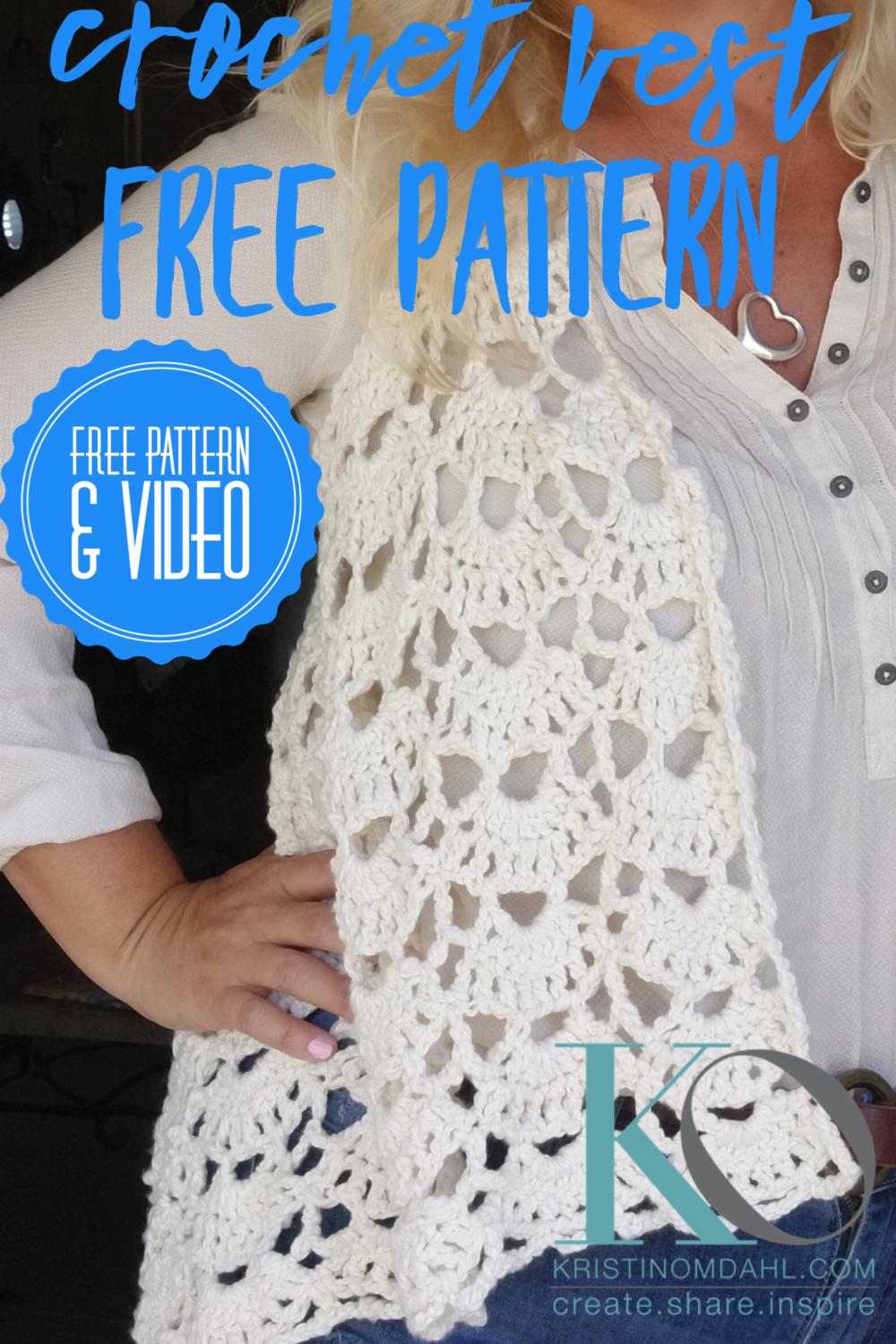 Claire Tender Crochet Vest Easy Free Pattern Kristin Omdahl