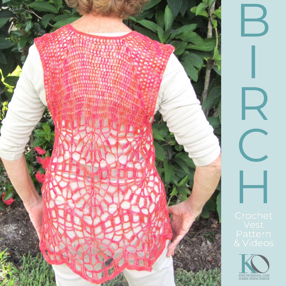 Birch Vest Crochet Pattern Printed Version Kristin Omdahl
