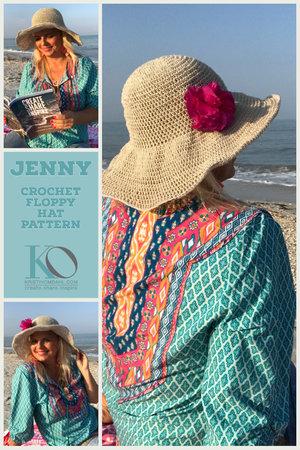 Jenny Floppy Sun Hat Crochet Pattern Printed Version Kristin Omdahl