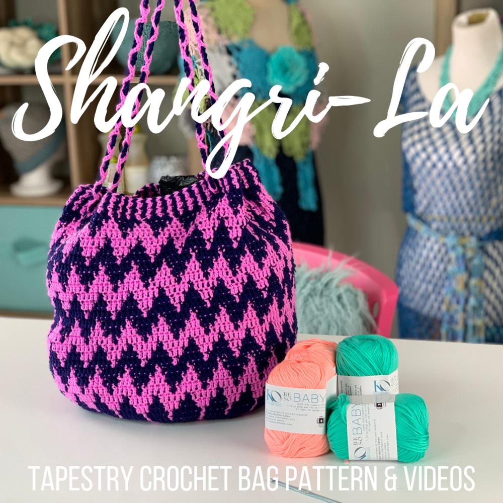 Shangri La Tapestry Crochet Bag Pattern Kristin Omdahl