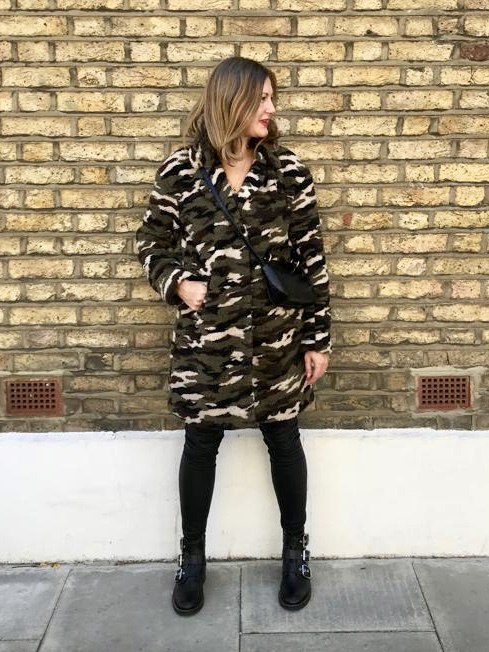 Camouflage Teddy Coat £75