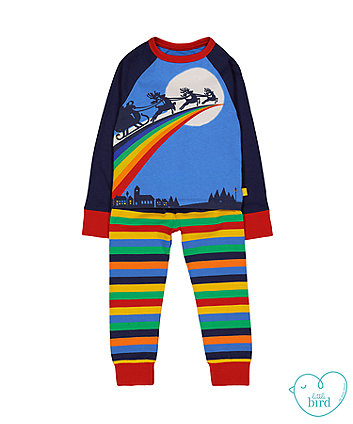 Main Image at Top  Kids wear Christmas Woodland Pyjamas by Bear and Bloom 065754747